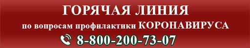 Горячая линия по вопросам профилактики коронавируса 8-800-200-73-07